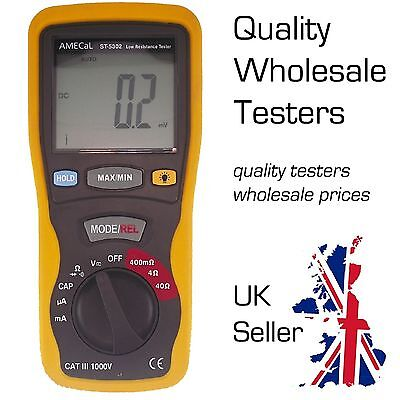 Portable Milliohm Meter, Low Resistance Digital Tester AMECaL ST-5302