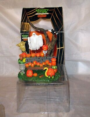 Retired Lemax #73604 Pumpkin Greeting Spooky Town Halloween Display In Box