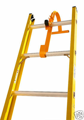 NEW Steel Ladder Roof Hook with Wheel - Roof Equipment • Extension Ladder