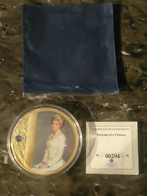 "Beautiful Gold Princess Diana  ""portraits Of A Princess "" Collectable"