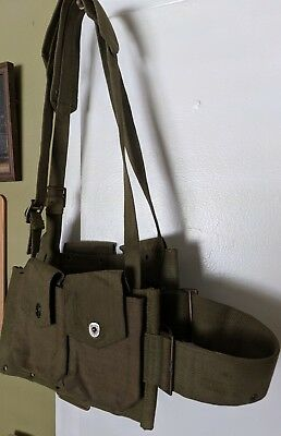 WW2 BAR Rifle Web Ammo Pouch Belt USGI