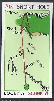 Churchman-Can You Beat Bogey At St Andrews(Red Overprint)-#24- Quality Golf Card