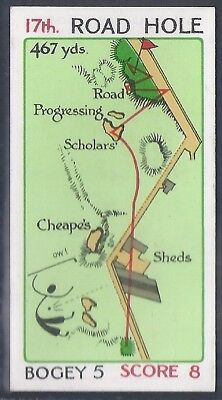 Churchman-Can You Beat Bogey At St Andrews(Red Overprint)-#51- Quality Golf Card