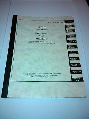 NATOPS NAVAIR A-4 C Skyhawk Pilot Flight Manual Vietnam USN era 1966