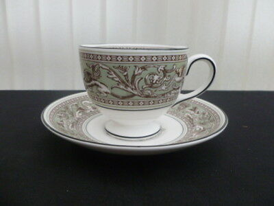 Wedgwood Florentine Sage Green Cup & Saucer First Quality New Unused