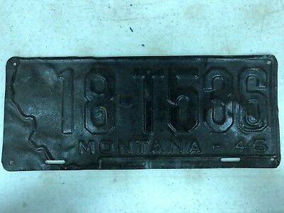 1945 MONTANA Beaverhead County Truck License Plate 18-T536
