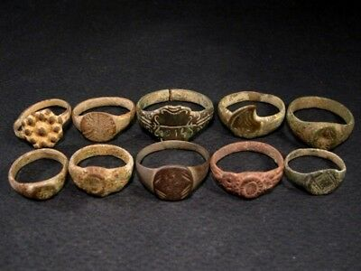 LOT of 10 pcs. ANCIENT ROMAN, BYZANTINE AND MEDIEVAL FINGER RINGS!!!