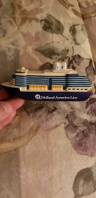 "5"" Holland America Line MS WESTERDAM stress relief Model Cruise Ship"