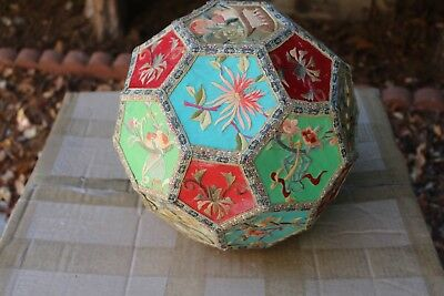 Big Antique Chinese hand embroidered ball, rare find