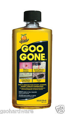 Goo Gone 8oz Citrus Solvent Cleaner Removes Stickers, Tape, Oil, Gum, Tar, etc.