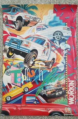 Vintage Original 1990s Ford F-150 Truck Poster Off-Road The Best Never Rest RARE