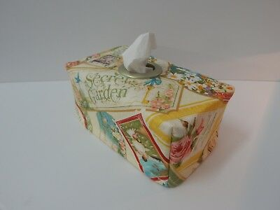 Tissue Box Cover Secret Garden  With Circle Opening - Great Gift!