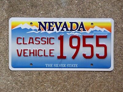 Nevada CLASSIC VEHICLE Vanity License Plate 1955 Bel Air TBird Olds Ford Buick