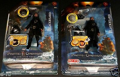 Pirates Of The Caribbean BLACKBEARD NEW Two Toy Lot Both Versions Ian McShane