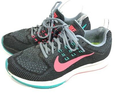 san francisco fdfb4 9b490 NIKE WOMENS AIR Zoom Structure 18 Athletic Running Shoes Sz 7.5 Training  683737