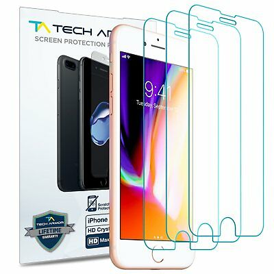Tech Armor HD Clear Screen Protector [3-Pack] for Apple iPhone 7/ iPhone 8