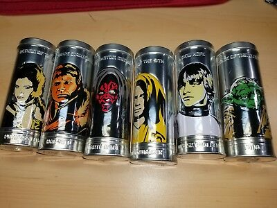 2005 Star Wars Saga Watches Complete Set 6 UNOPENED Burger King Sealed Tins