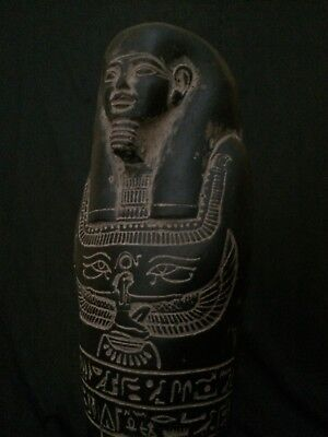 ANCIENT EGYPT EGYPTIAN ANTIQUITIES Statue USHABTI Shabti Black Stone 1352 BC