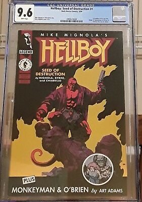 Hellboy: Seed of Destruction #1 CGC 9.6 WP 1994 1st Hellboy in own title
