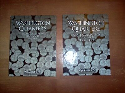 Washington State Quarter P&D Set 1999-2008 - 2 Books complete