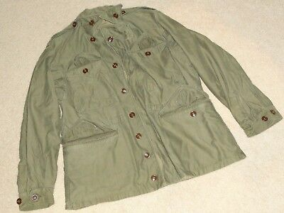 Vintage Us Army Usmc (?) Military Issue Jacket Coat 40-R 40 Regular ( L Large )