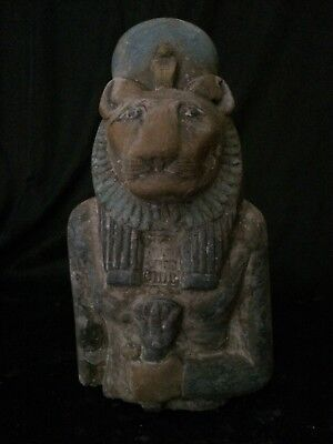 ANCIENT EGYPTIAN STATUE ANTIQUES Goddess Sakhmet Limestone EGYPT 1390–1352 B.C