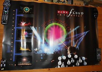 Original ROCK Poster - PINK FLOYD - Delicate Sound Of Thunder - VHS Ad - 1989