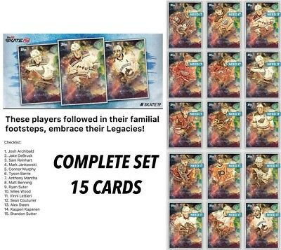 18-19 LEGACIES COMPLETE SET OF 15 (Reinhart/Suter/Wood+) Topps NHL Skate Digital