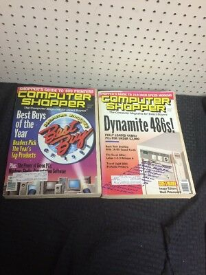 Computer Shopper Magazine Lot of 2 January Oct 1993 (Best Buys, Dynamite 486s)