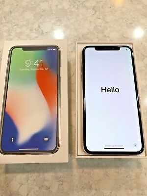 23b2c84836 APPLE IPHONE X - 256GB - Silver - Open/MINT COMPLETE W/Box EXCELLENT ...