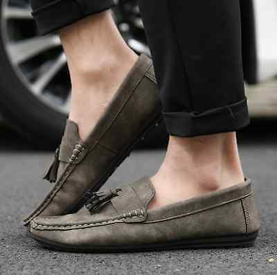 New Fashion England Men/'s Driving Moccasin Loafer Leather Casual Shoes NX02