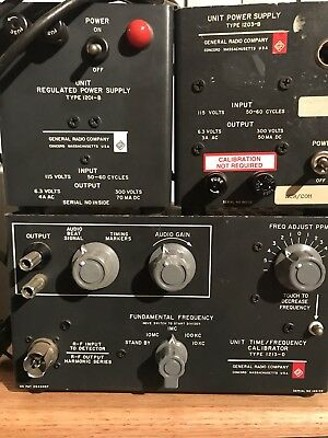 Type 1213-D Unit Time/Frequency Calibrator General Radio 1203-B & 1201-B Tube PS