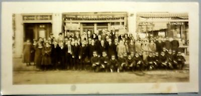 antique panoramic rare photo Western Union Telegraph co. early 1900s BLDG & EMPL