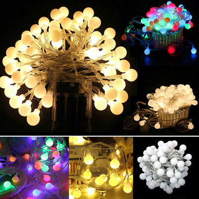 3/4/5M Fairy 50LED String Lights Christmas Round Ball Blubs Wedding Party Lamp