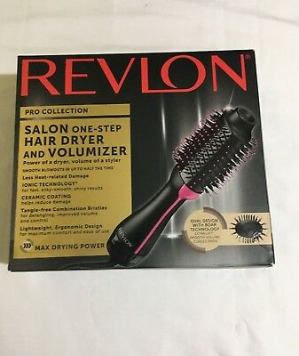 Revlon Pro Collection One-Step Hair Dryer and Volumizer Oval Brush Design Tech