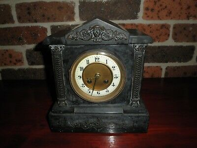 Antique Marble  / Slate Mantle Clock