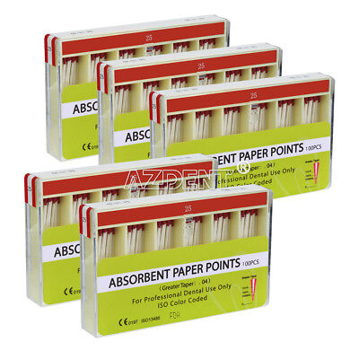 5 Kits Dental Absorbent Paper Points Root Canal Endodontic 25# Taper 0.04