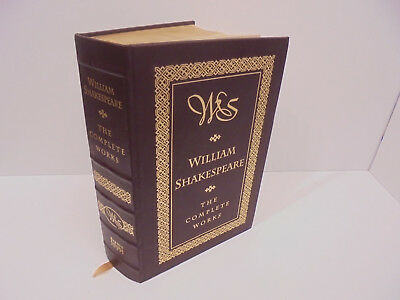 William Shakespeare The Complete Works Leather Barnes & Noble 1994 Plays
