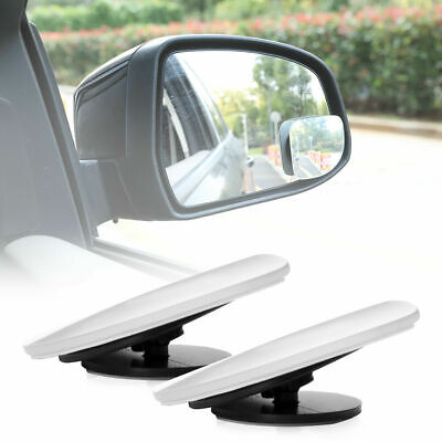 Pair Blind Spot Mirrors Side Rearview Wide Angle Adjustable HD Glass Car Auto