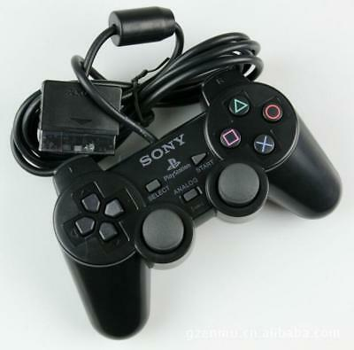 New PS2 Sony Playstation 2 Wire Dualshock Controller Black FREE Ship