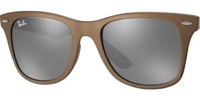 162a288741 Ray Ban RB4195 60336G Brown Frame Grey Mirror 52mm Lens Literforce  Sunglasses