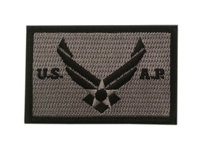 US Air Force , Air Protection, Tactical Morale HOOK Patch (3 Inch Grey) USAF