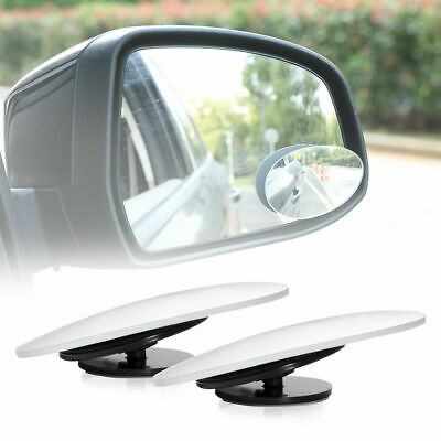 Pair Blind Spot Mirrors Water Drop Type Wide Angle Side Rearview Adjustable