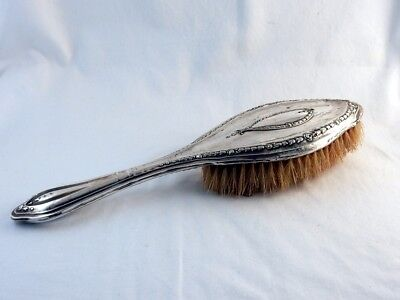 Antique Art Deco 1924 Sterling Solid Silver Vanity Dressing Table Hair Brush