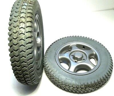 """14""""x3"""" (3.00-8) Solid Foam-Filled Drive Wheels for Invacare Power Wheelchairs"""