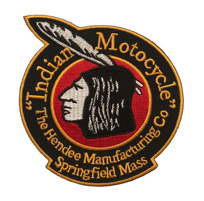 INDIAN MOTORCYCLE Head Logo Iron-on Biker Vest Clothing Patch (4 Inch)