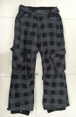 """Mens Quiksilver 8000 mm Snow Ski Snowboard Pants Trousers Size M or W 32"""""""