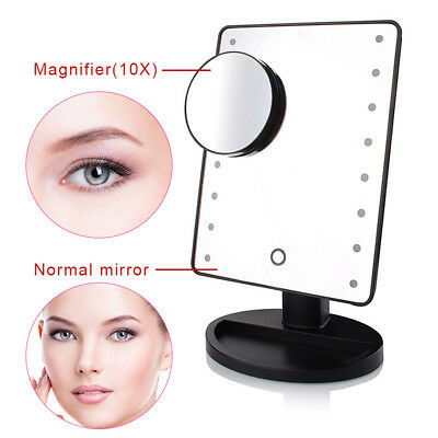 10x Magnification 16/22 LED Light Makeup Mirror Portable Ajustable Vanity Light