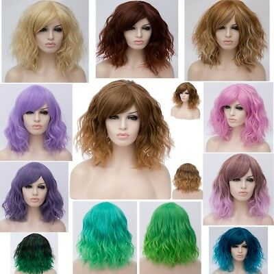 22 Styles Synthetic Curly Short Party Hair Anime Halloween Cosplay Wig
