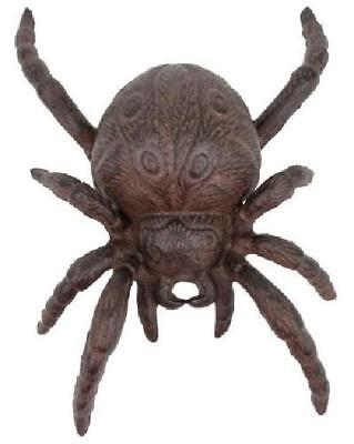 Cast Iron Halloween Spider Garden Statue Patio Yard Brown Rustic Indoor Outdoor